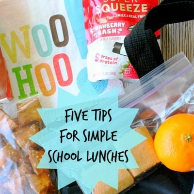 Five Tips for Simple School Lunches