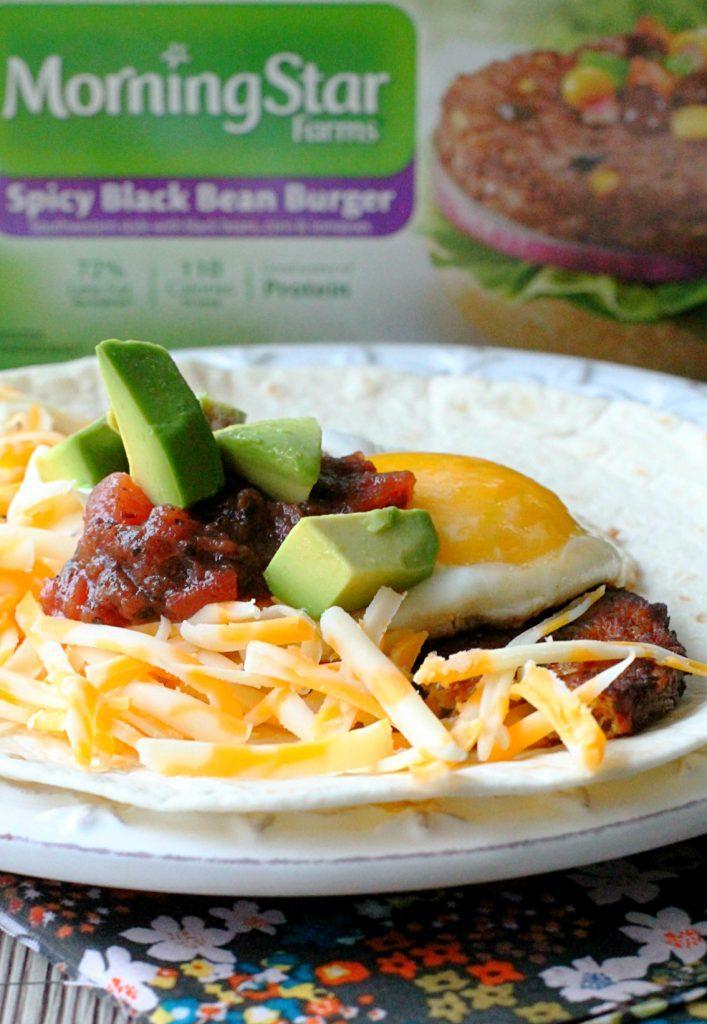 Black Bean Burger Breakfast Burritos Foodtastic Mom