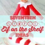 Seventeen Simple Elf on the Shelf Ideas by Foodtastic Mom