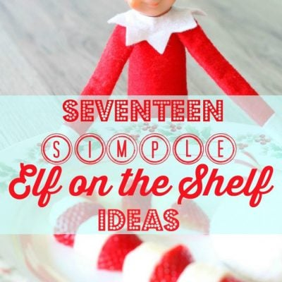 Seventeen Simple Elf on the Shelf Ideas