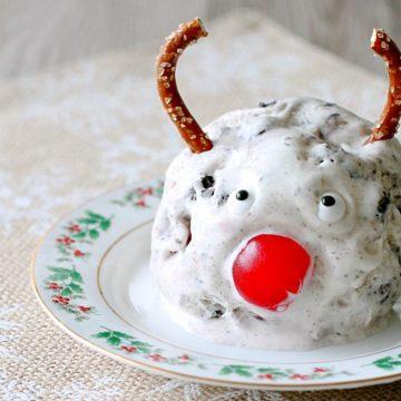 No-Churn Rudolph Tracks Ice Cream