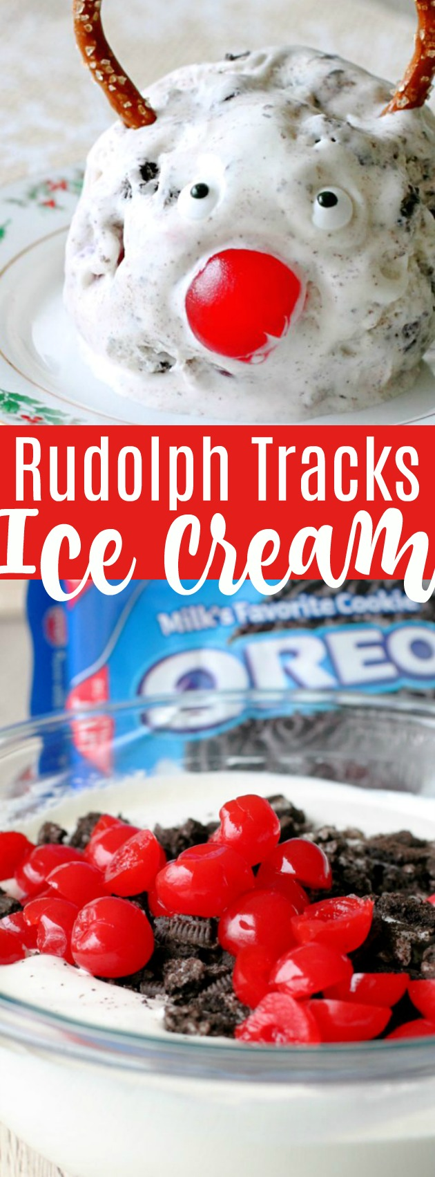 No Churn Rudolph Tracks Ice Cream