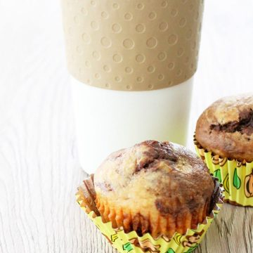 Skinny Peanut Butter, Chocolate and Banana Muffins by Foodtastic Mom