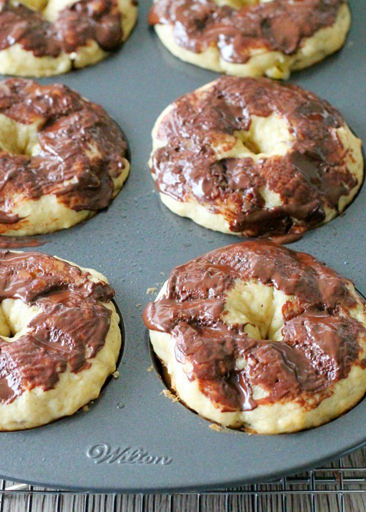 Baked Banana Donuts by Foodtastic Mom