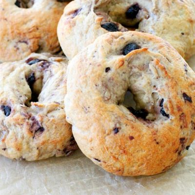 Blueberry Oat Bagels