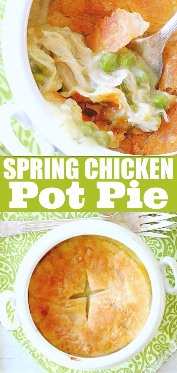 Spring Chicken Pot Pie | Foodtastic Mom #chickenpotpie #chickenrecipes