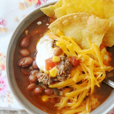 The Best Taco Soup by Foodtastic Mom