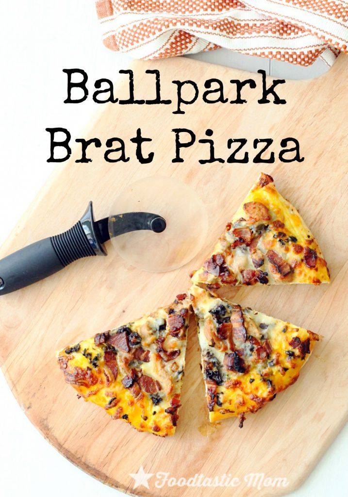 Ballpark Brat Pizza by Foodtastic Mom