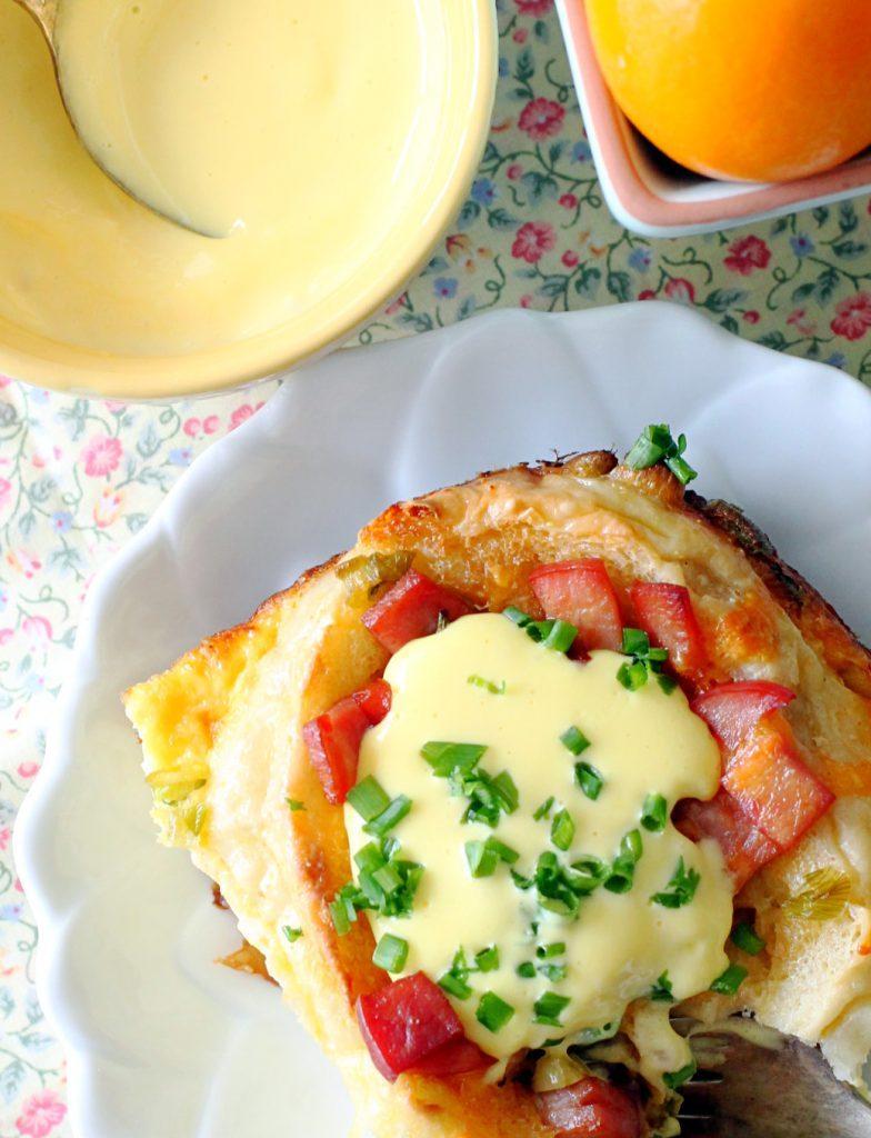 Eggs Benedict Breakfast Bake by Foodtastic Mom