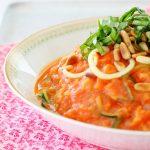 Veggie Noodles with Tomato Cream Sauce