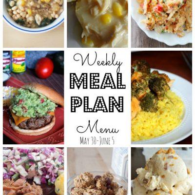 Weekly Meal Plan (May 30 – June 5)