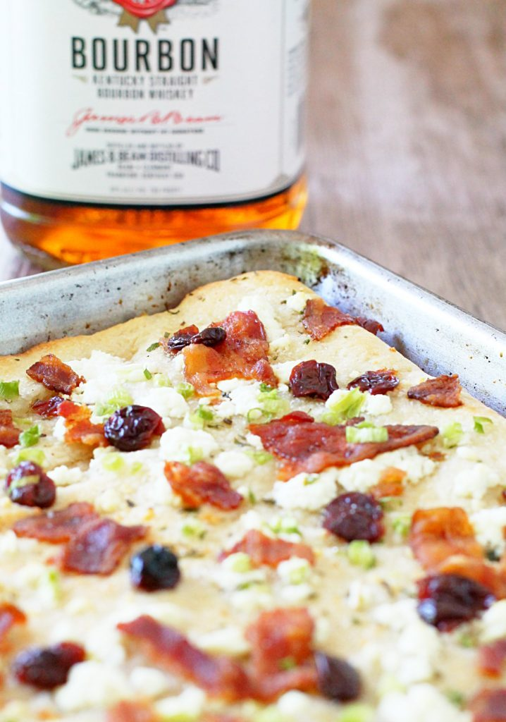 Bacon Bourbon Cherry Pizza by Foodtastic Mom