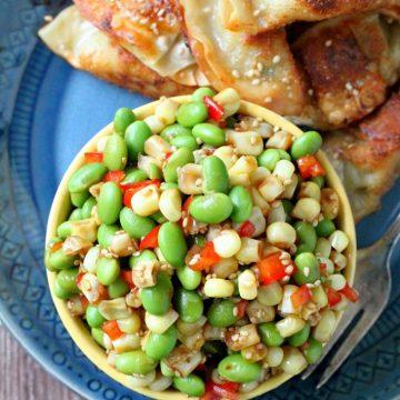 Corn and Edamame Sesame Salad by Foodtastic Mom #vegan