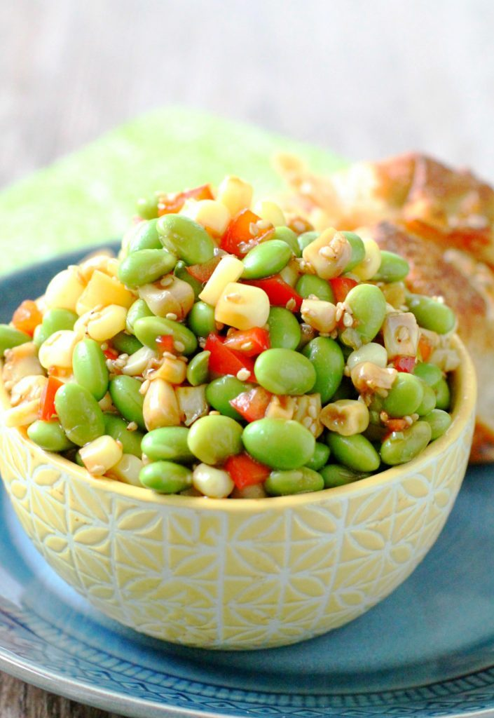Corn and Edamame Sesame Salad by Foodtastic Mom #vegan