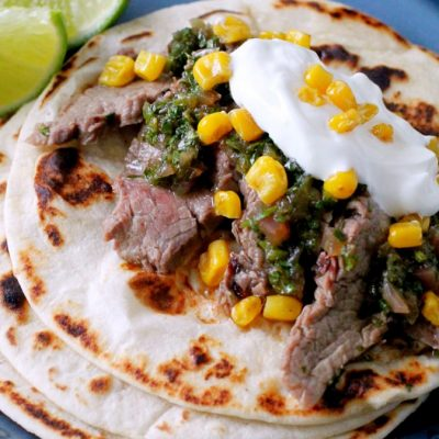Pineapple Marinated Steak Tacos