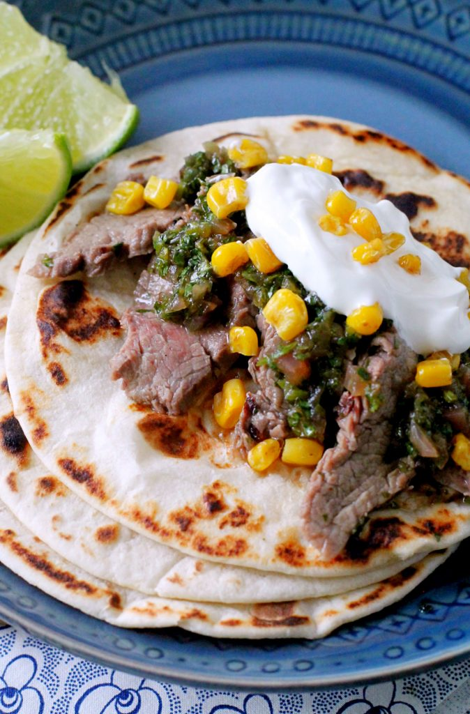 Pineapple Marinated Steak Tacos with Chimichurri Sauce by Foodtastic Mom #BlogMeetsBeef