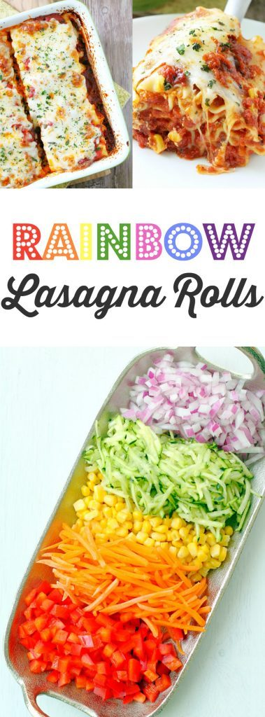 Rainbow Lasagna Rolls by Foodtastic Mom