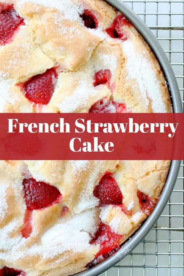 Made in one bowl. So easy but so impressive! #frenchstrawberrycake #cakerecipes #strawberryrecipes #dessertrecipes #valentinesday #datenight #strawberrycake via @foodtasticmom