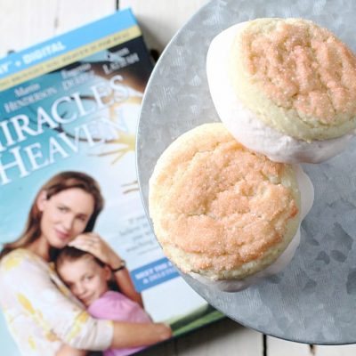 Pink Lemonade Ice Cream Sandwiches by Foodtastic Mom #MiraclesfromHeaven #ad