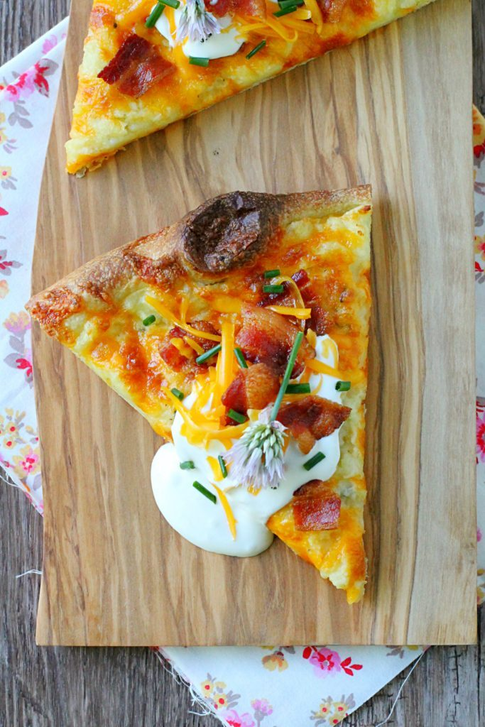 Supreme Mashed Potato Pizza by Foodtastic Mom