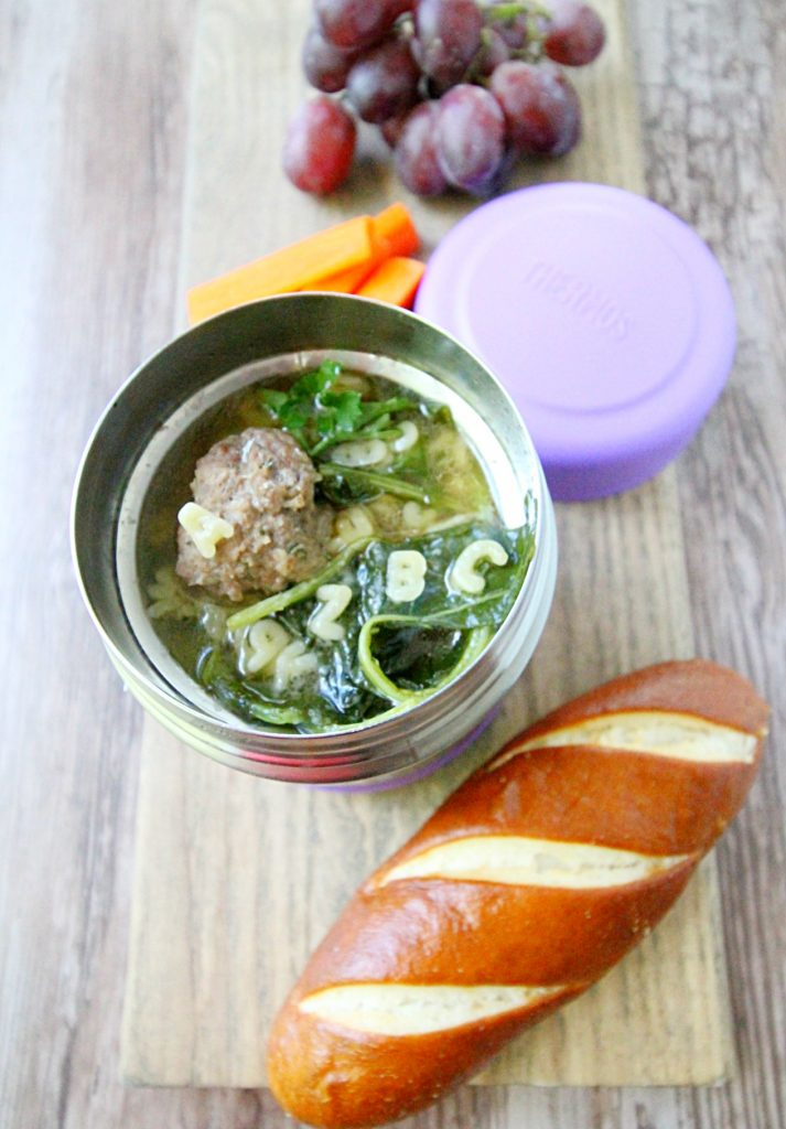 Beefy Alphabet Italian Wedding Soup by Foodtastic Mom