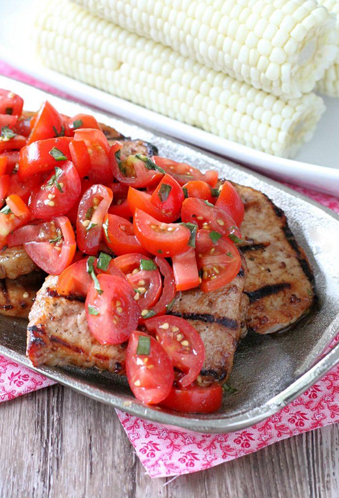 Grilled Pork Caprese by Foodtastic Mom #GrillPorkLikeASteak #ad