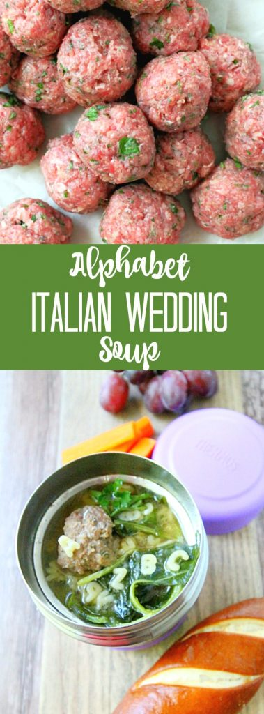 Beefy Alphabet Italian Wedding Soup