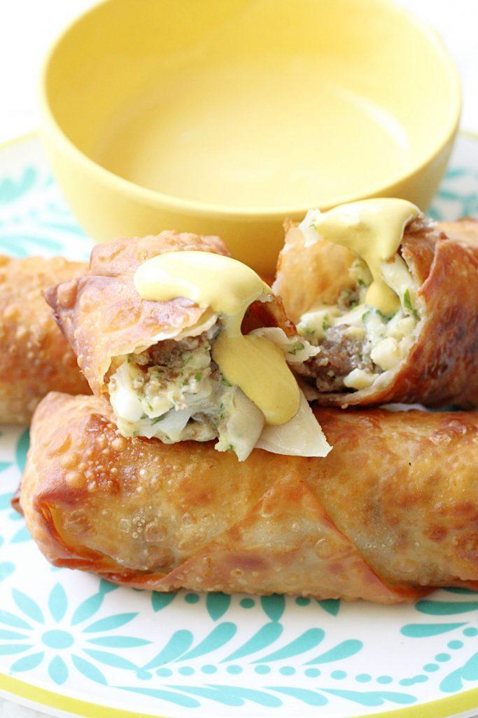 Scotch Egg Rolls by Foodtastic Mom