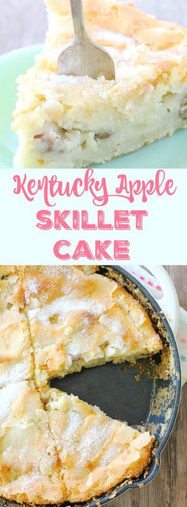 Kentucky Apple Skillet Cake