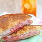 Grilled Ham and Goat Cheese Sandwich with Strawberry Jam