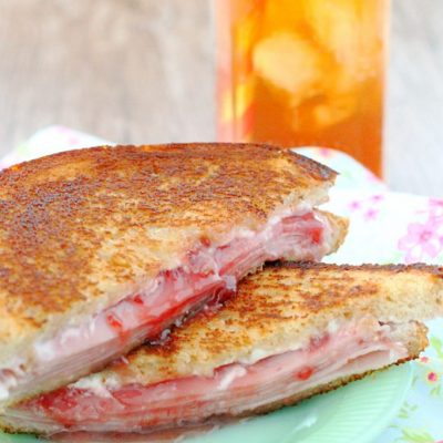 Grilled Ham and Cheese Sandwich with Strawberry Jam by Foodtastic Mom