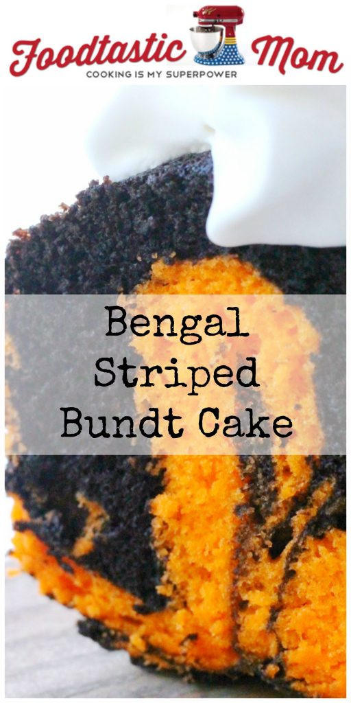 Bengal Striped Bundt Cake by Foodtastic Mom #foodiefootballfans