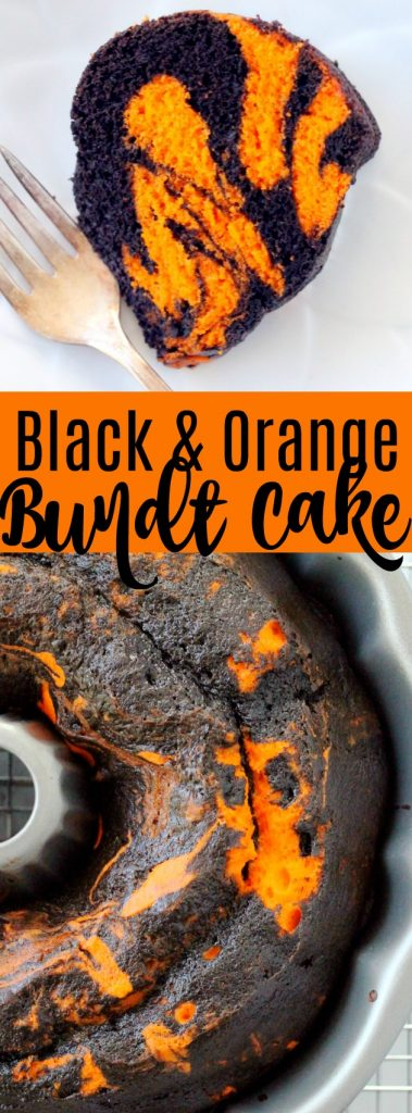 Black and Orange Bundt Cake (for Halloween or Bengals fans)