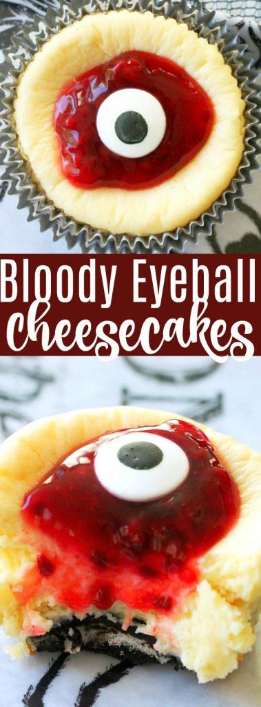 Bloody Eyeball Cheesecakes