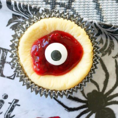 Bloody Eyeball Cheesecakes