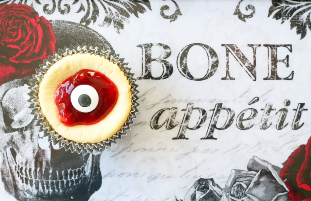 Bloody Eyeball Cheesecakes by Foodtastic Mom