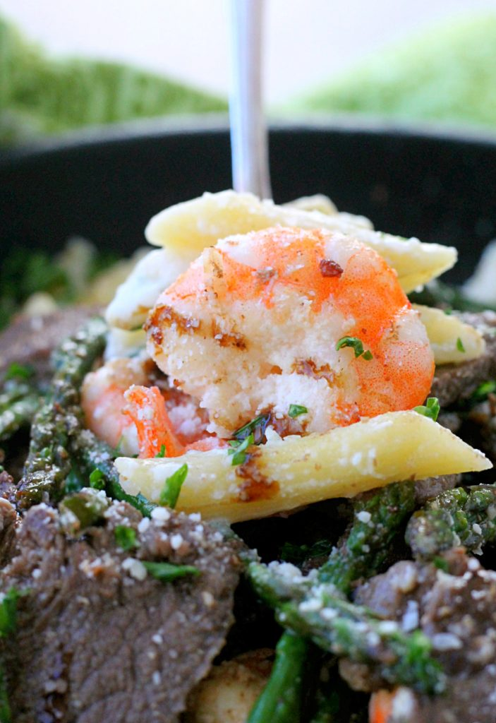 Surf and Turf Alfredo by Foodtastic Mom #MarieFreshTake #MarieFreshTakeSweeps #AD