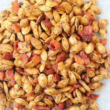 Bourbon Bacon Pumpkin Seeds by Foodtastic Mom #FallFest