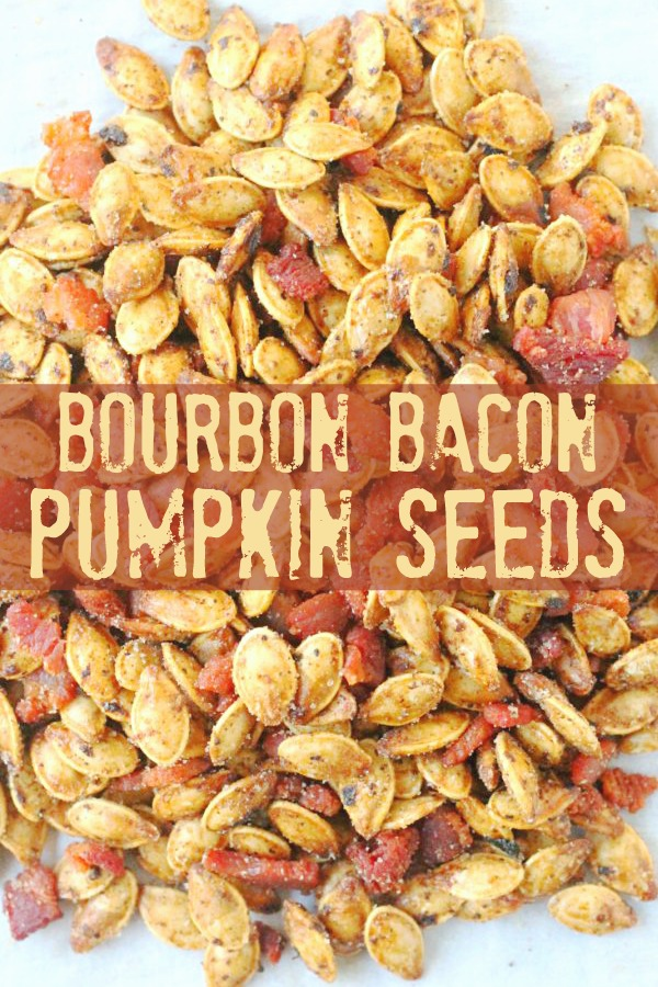 Bourbon Bacon Pumpkin Seeds | Foodtastic Mom #halloween #halloweenrecipes #pumpkin #pumpkinseeds #pumpkinrecipes