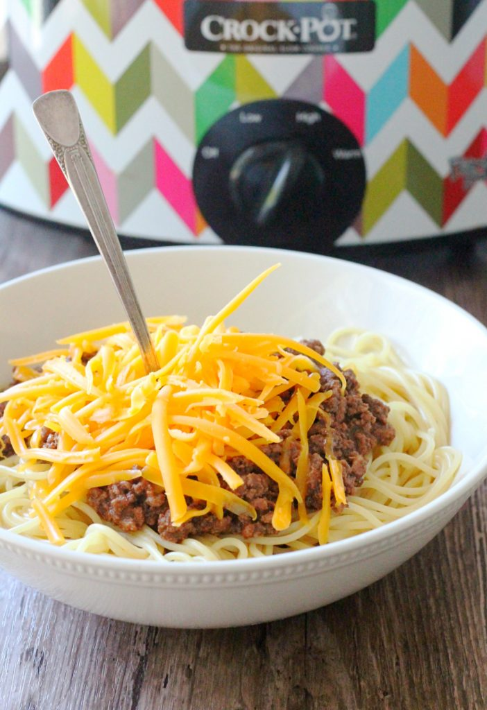 Slow Cooker Cincinnati Chili by Foodtastic Mom #ohiobeef #ad
