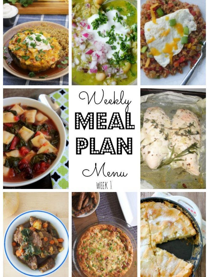 Weekly Meal Plan by Foodtastic Mom