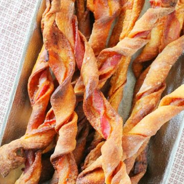 Spicy Sweet Bacon Breadsticks by Foodtastic Mom