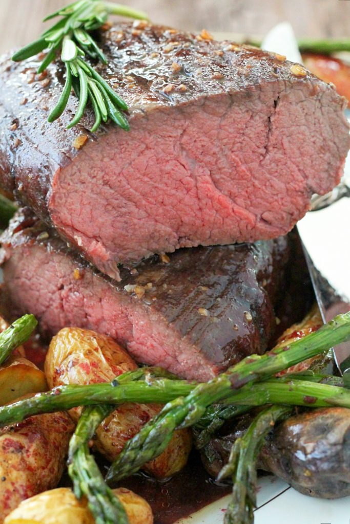 Slow Roasted Beef Tenderloin by Foodtastic Mom #ohiobeef #ad