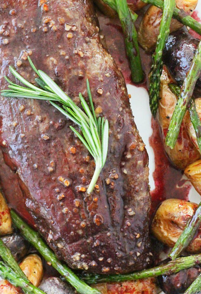 Slow Roasted Beef Tenderloin by Foodtastic Mom #ohiobeef #ad