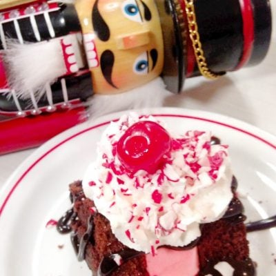 Peppermint Hot Fudge Cake