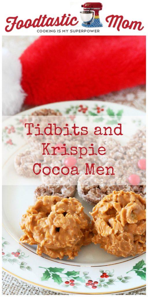 Tidbits and Krispie Cocoa Men #TidingsandTreats #ad