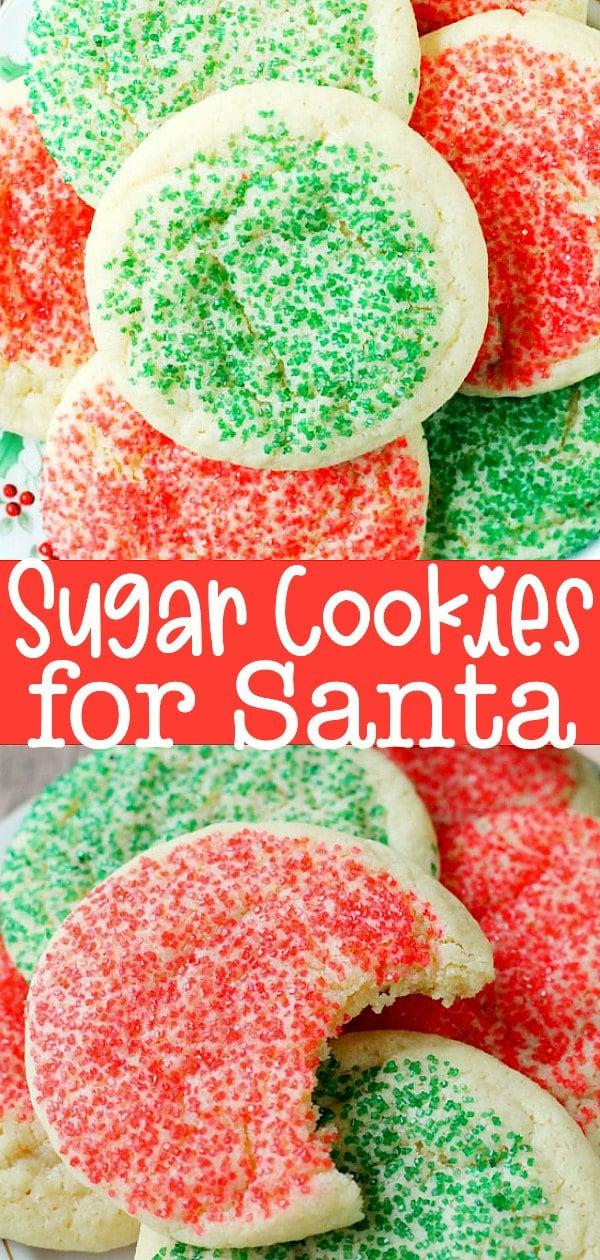 Santa Sugar Cookies   Foodtastic Mom #christmascookies #cookierecipes #holidaycookies #santa #christmas via @foodtasticmom