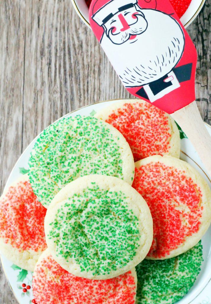 Santa Sugar Cookies by Foodtastic Mom