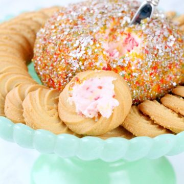 Fancy Fruity Dessert Cheese Ball by Foodtastic Mom