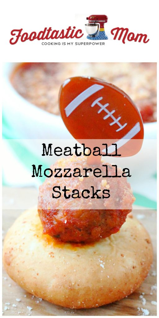 Simple Meatball Mozzarella Stacks by Foodtastic Mom (ad)